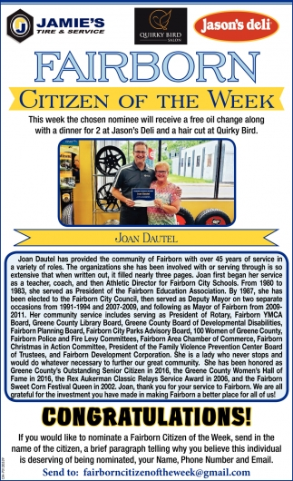 Joan Dautel - Citizen of the Week