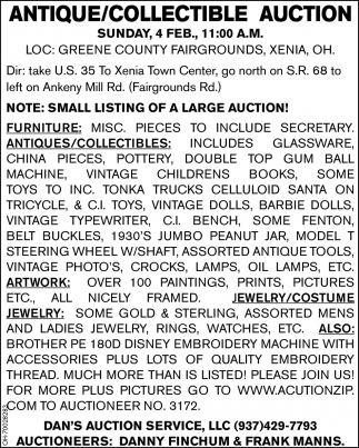 Antique/Collectibles Auction