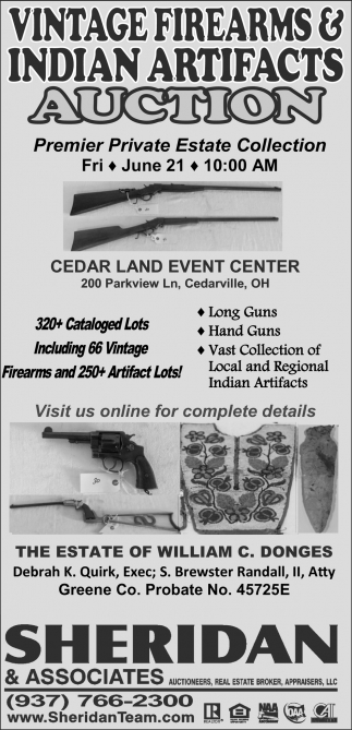 Vintage Firearms & Indian Artifacts Auction,