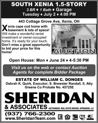 Real Estate Auction - Xenia