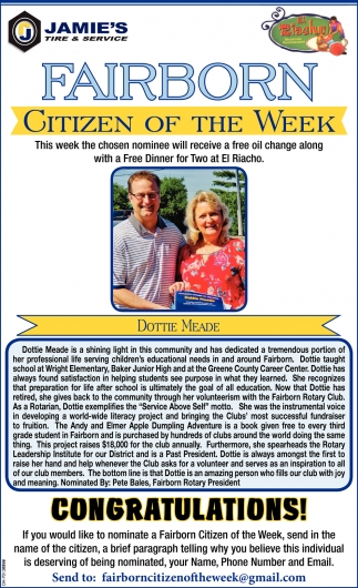 Dottie Meade - Citizen of the Week