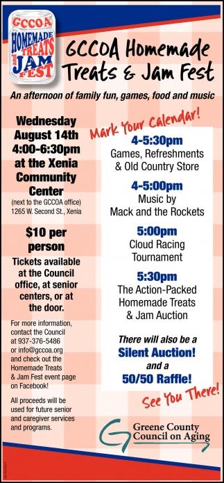 GCCOCA Homemade Treats & Jam Fest