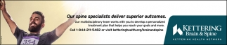 Our spine specialists deliver superior outcomes
