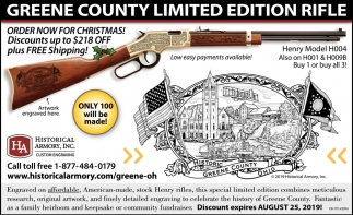 Greene County Limited Edition Rifle