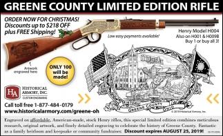 Greene County Limited Edition Rifle