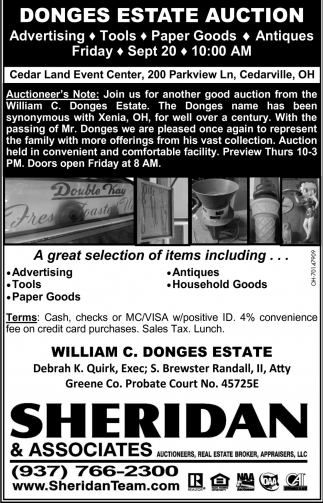 Domges Estate Auction - Sept 20