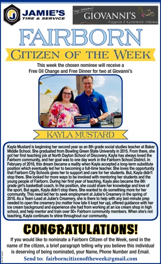Kayle Mustard - Citizen of the Week