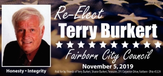 Re- Elect Terry Burkert - Fairborn City Council