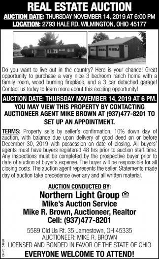 Real Estate Auction - November 14