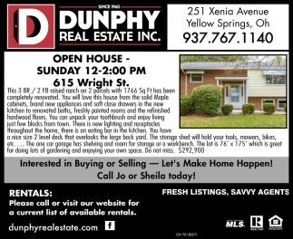 Open House - 615 Wtight St.