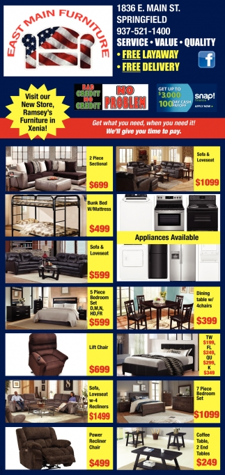 Visit our New Store, Ramsey's Furniture in Xenia