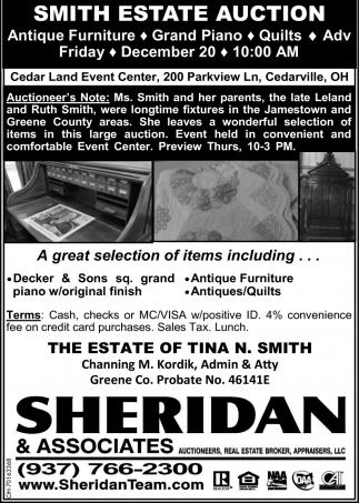 Smith Estate Auction - December 20