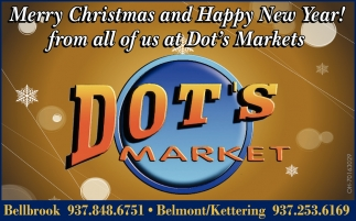 Merry Christmas and Happy New Year! from all of us at Dots Markets