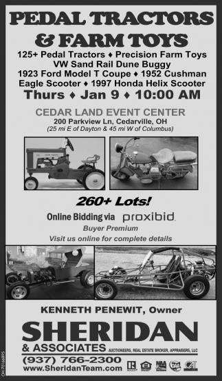 Pedal Tractors & Farm Toys - Jan 9
