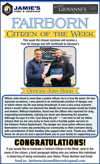 Citizen of the week - John Hood