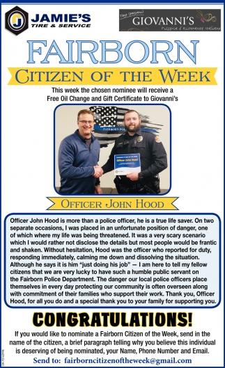 Citizen of the week - John Hood
