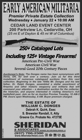 Early American Militaria - January 22