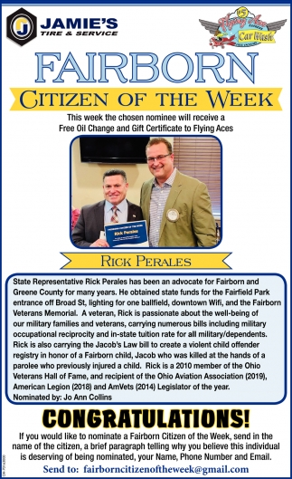 Citizen of the week - Rick Perales
