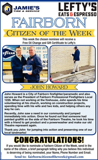 Citizen of the week - John Howard