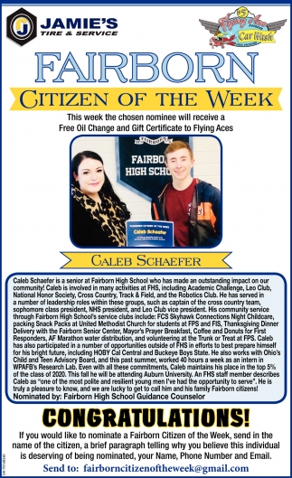 Citizen of the week - Galeb Schaefer