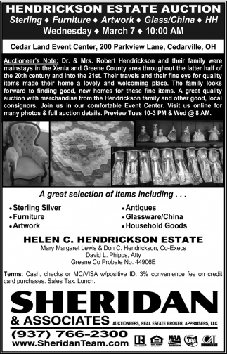 Hendrickson Estate Auction