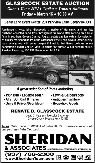 Glasscock Estate Auction