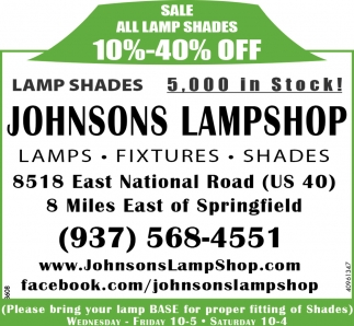 Sale All Lamp Shades 10%-40% off