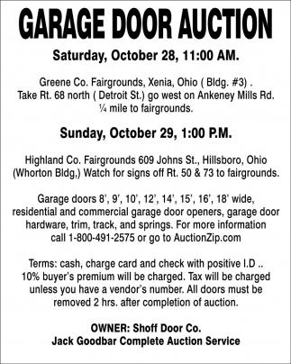 Garage Door Auction