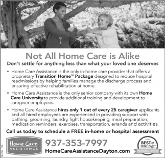 Not Al Home Care is Alike