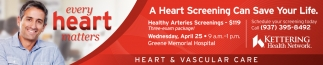 Healthy Arteries Screenings