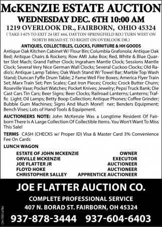 McKenzie Estate Auction