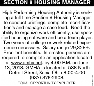 Section 8 Housing Manager