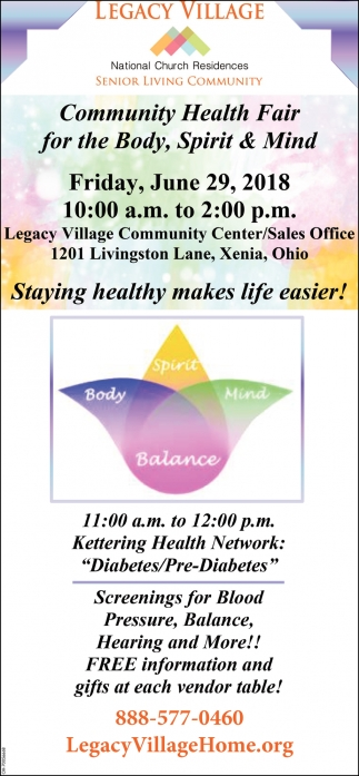Community Health Fair for the Body, Spirit & Mind