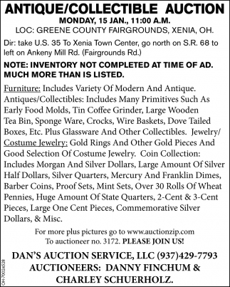 Antique/Collectible Auction