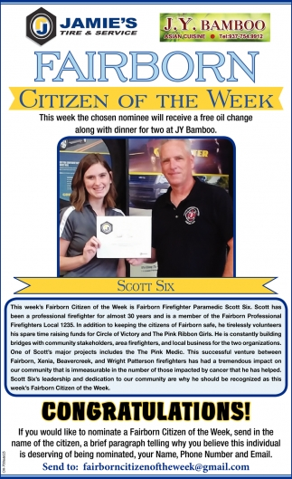 Fairborn Citizen of the Week