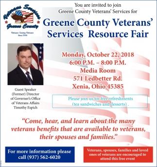 Greene County Veteran's Services Resource Fair