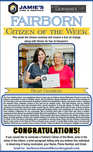 Fairborn Citizen of the Week