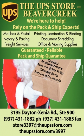 Rely on the Pack & Ship Experts!
