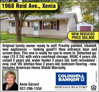 1968 Reid Ave., Xenia