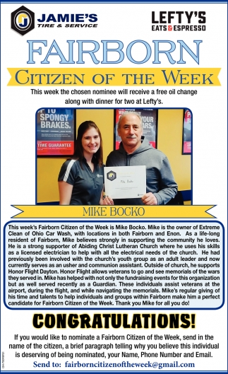 Citizen of the week