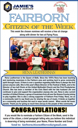 Rena Leatherman: Citizen of the week