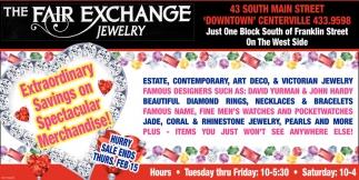 Extraordinary Savings on Spectacular Merchandise!