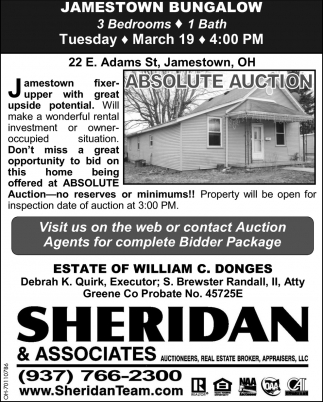 Absolute Auction - Jamestown Bungalow