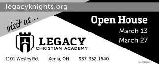 Open House March 13, 27