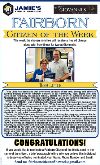 Tess Little - Citizen of the Week