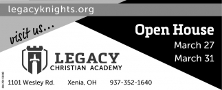 Open House March 27, 31