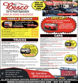 Oregon Car Showrooms Dealerships: Like New Is All We Do, Alan Besco Car & Truck Superstore