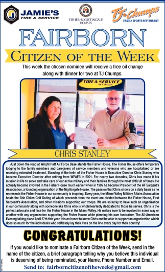 Chris Stanley - Citizen of the Week