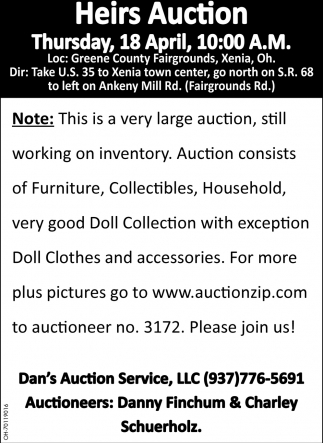 Heirs Auction