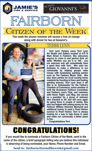 Terri Lynn - Citizen of the Week
